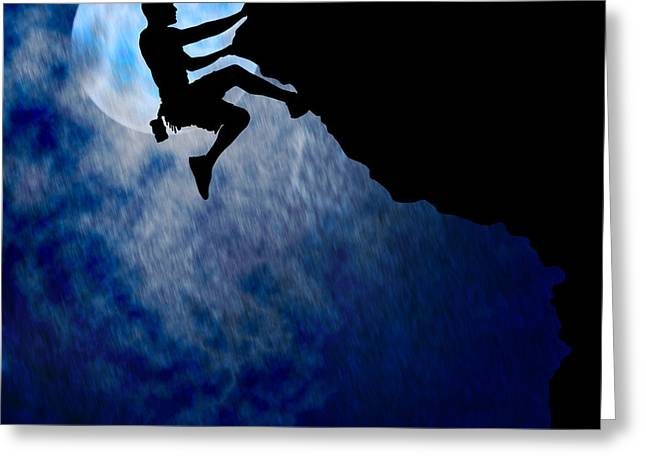 Stormy Weather Digital Greeting Cards - Couragous Climber Greeting Card by Brandon Alms