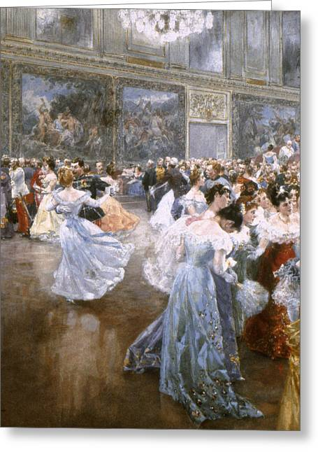 Ball Gown Greeting Cards - Court Ball At The Hofburg Greeting Card by Granger