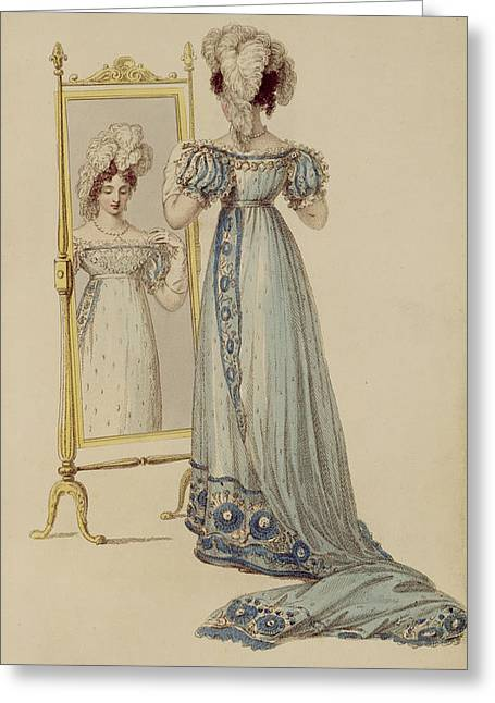 Court Dress, Fashion Plate Greeting Card by English School