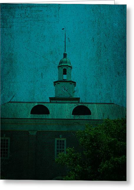 Tennessee Landmark Greeting Cards - Court House Steeple Fayetteville Tennessee Greeting Card by Lesa Fine