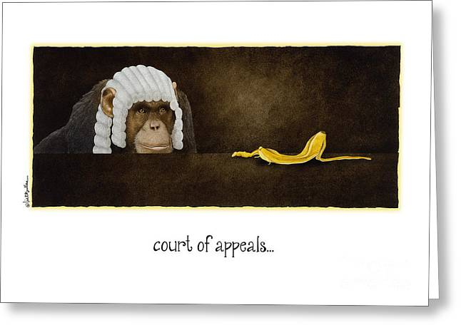 Monkeys Greeting Cards - Court of Appeals... Greeting Card by Will Bullas
