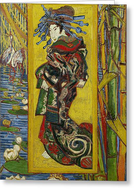October Framed Greeting Cards - Courtesan Greeting Card by Vincent van Gogh