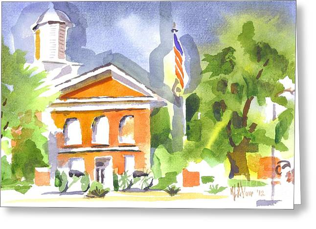 Courthouse Abstractions II Greeting Card by Kip DeVore