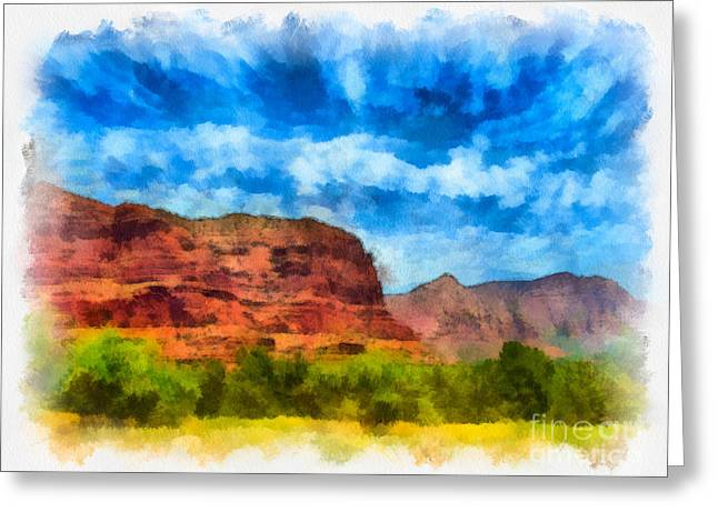 Courthouse Butte Sedona Arizona Greeting Card by Amy Cicconi