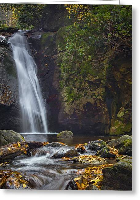 Stream Prints Greeting Cards - Courthouse Falls Greeting Card by Brian Young