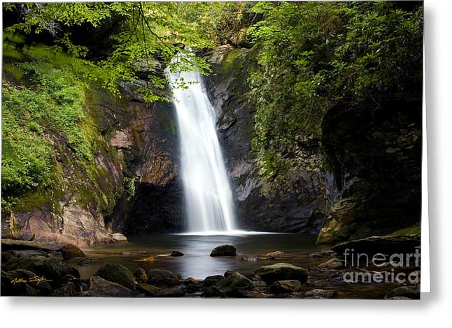 Cullowhee Greeting Cards - Courthouse Falls I 2010 Greeting Card by Matthew Turlington