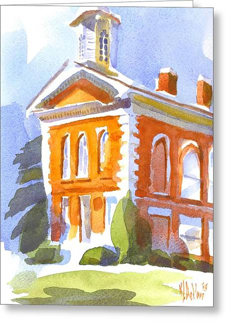 Courthouse In Early Morning Sunshine II Greeting Card by Kip DeVore
