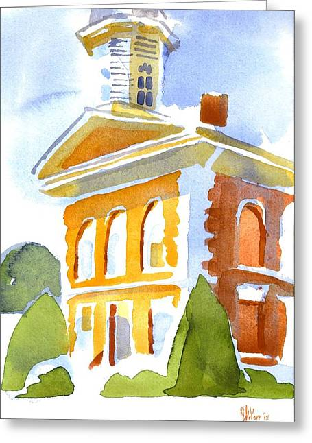 Courthouse In Early Morning Sunshine Greeting Card by Kip DeVore