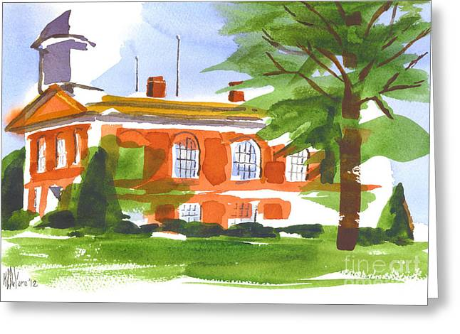 Courthouse On A Summers Evening Greeting Card by Kip DeVore