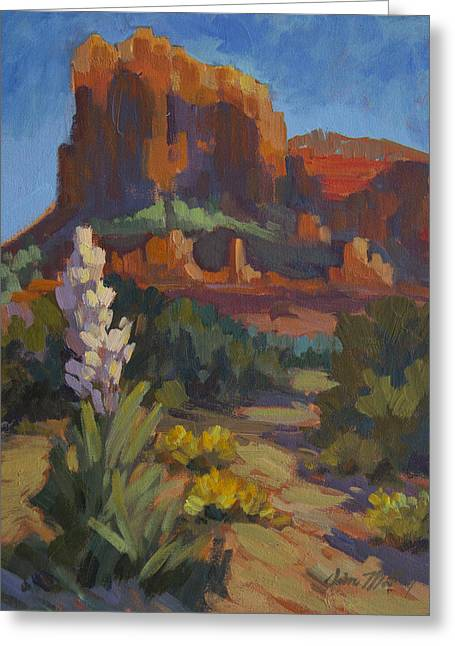 Red Rocks Sedona Greeting Cards - Courthouse Rock Sedona Greeting Card by Diane McClary