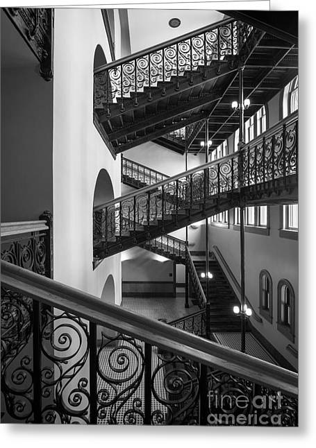 Courthouse Greeting Cards - Courthouse Staircases Greeting Card by Inge Johnsson