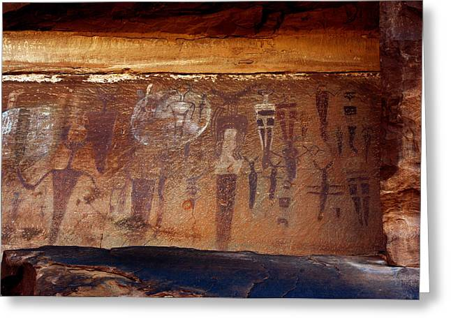 Bcs Greeting Cards - Courthouse Wash Pictrographs 2 Greeting Card by Ron Brown Photographics