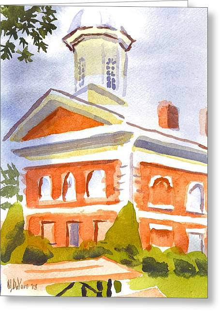 Courthouse With Picnic Table Greeting Card by Kip DeVore