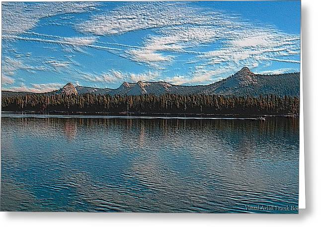 Visual Artist Frank Bonilla Greeting Cards - Courtright Reservoir Version II Greeting Card by Visual Artist  Frank Bonilla
