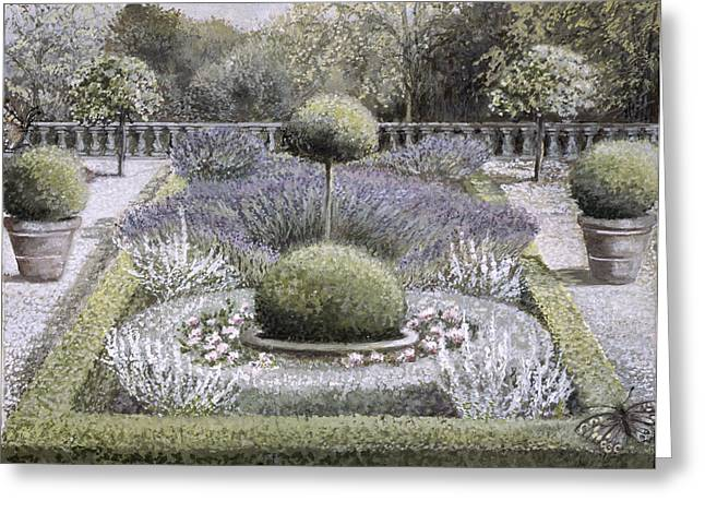 Magnificent Landscape Greeting Cards - Courtyard Garden Greeting Card by Ariel Luke