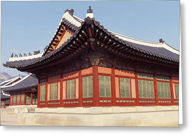 Seoul Greeting Cards - Courtyard Of A Palace, Kyongbok Palace Greeting Card by Panoramic Images