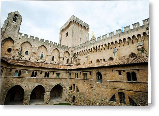 Fortified Wall Greeting Cards - Courtyard Of A Palace, Palais Des Greeting Card by Panoramic Images