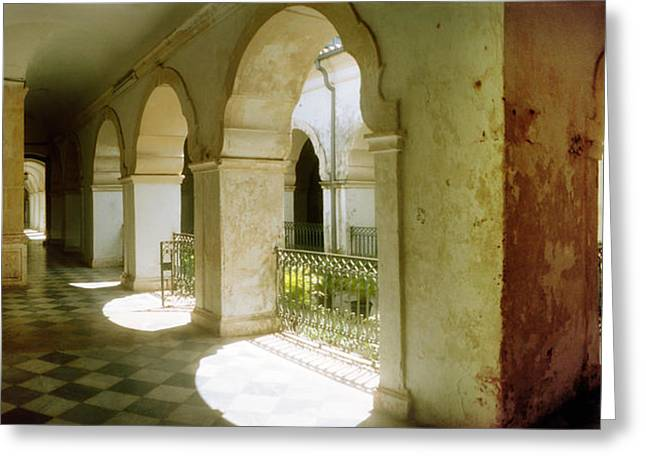 Sao Greeting Cards - Courtyard Of Igreja De Sao Francisco Greeting Card by Panoramic Images