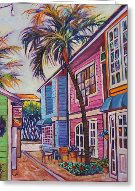 Eve Greeting Cards - Courtyard Palm Greeting Card by Eve  Wheeler