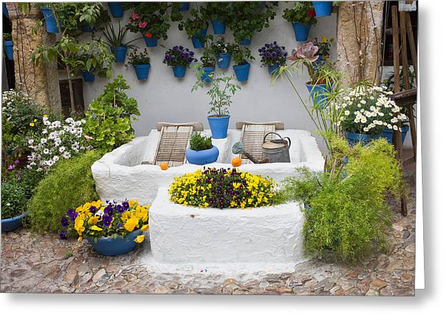 Wash Boards Greeting Cards - Courtyard With Washing Boards Greeting Card by Artur Bogacki