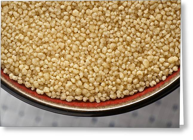 Flour Greeting Cards - Couscous Greeting Card by Steve Gadomski