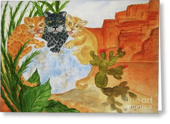 Fantasy World Greeting Cards - Cousins Greeting Card by Ellen Levinson