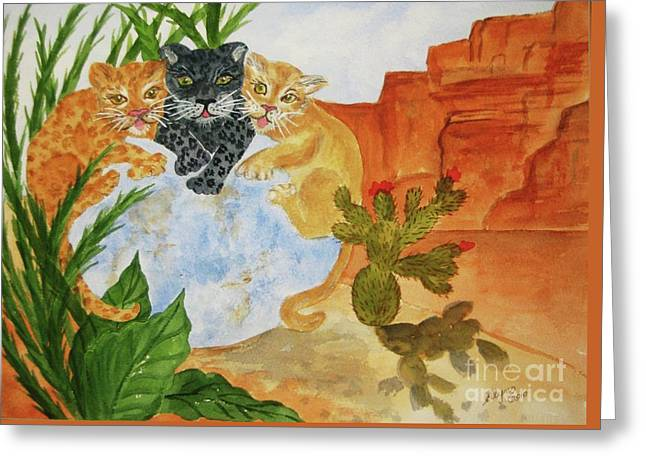 Mystical Landscape Greeting Cards - Cousins Greeting Card by Ellen Levinson