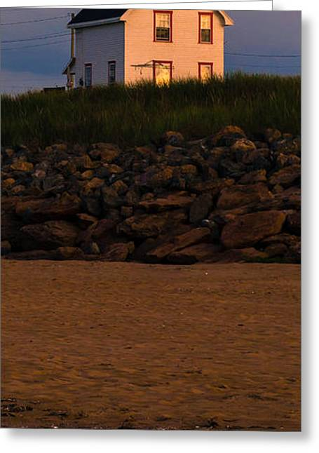 Cousins Greeting Cards - Cousins Shore Lighthouse PEI Greeting Card by Edward Fielding