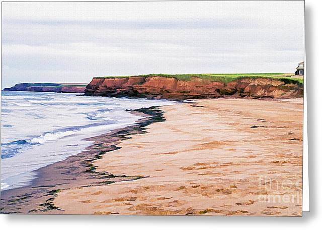 Cousins Shore Prince Edward Island Greeting Card by Edward Fielding