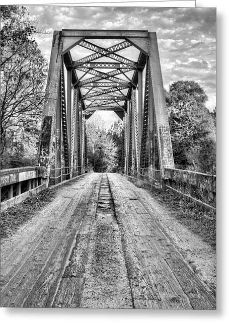Mayberry Greeting Cards - Coutry Roads in Brooklyn BW Greeting Card by JC Findley