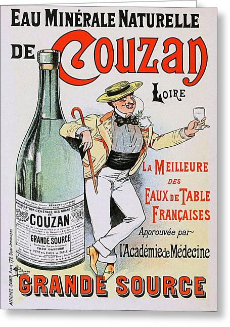Belle Epoque Mixed Media Greeting Cards - Couzan Mineral Water Greeting Card by Charles Ross