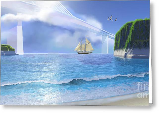 Clippers Digital Art Greeting Cards - Cove Greeting Card by Corey Ford