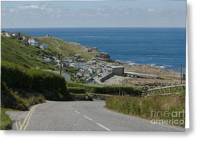 Terri Waters Greeting Cards - Cove Hill Sennen Cove Greeting Card by Terri  Waters
