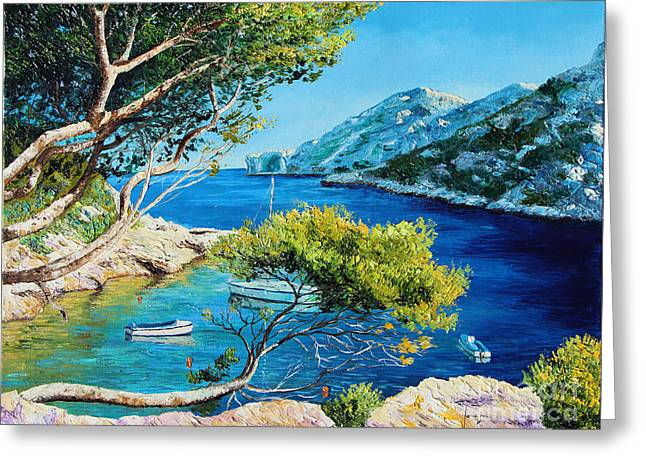 Marc Greeting Cards - Cove of Morgiou Greeting Card by Jean-Marc Janiaczyk
