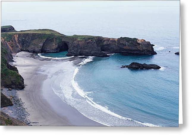 California Ocean Photography Greeting Cards - Cove On North Coast, California, Usa Greeting Card by Panoramic Images