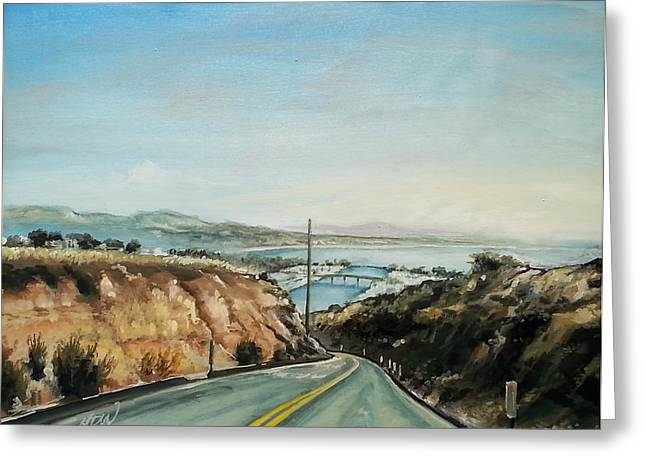 After Dinner Greeting Cards - Cove Road to the Marina Greeting Card by Mike Worthen