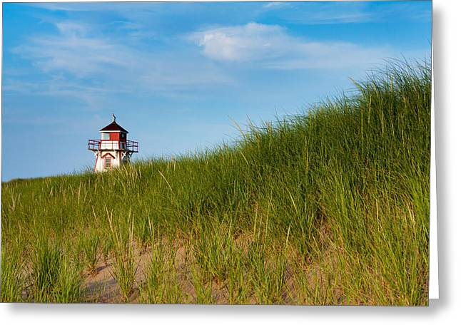 Sporting Equipment Greeting Cards - Covehead Lighthouse  Greeting Card by Matt Dobson