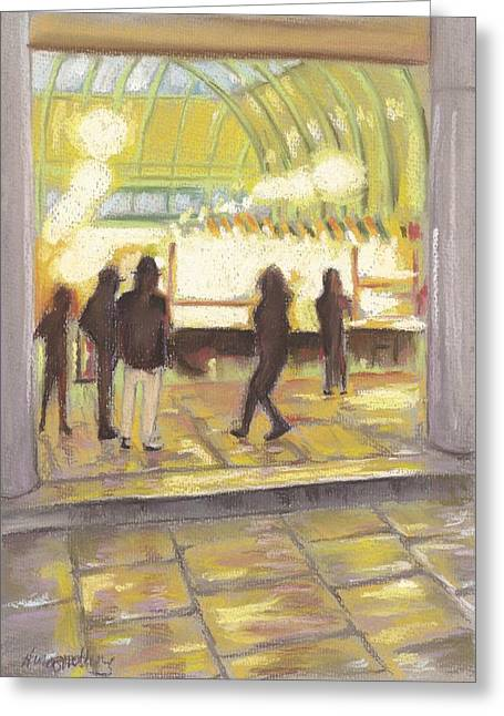 London Pastels Greeting Cards - Covent Garden Greeting Card by Nina Shilling