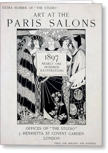 Publication Greeting Cards - Cover For Art At The Paris Salons Greeting Card by English School