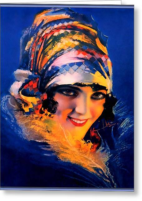 Pin-up Model Greeting Cards - Cover Girl Pin Up Model Greeting Card by Rolf Armstrong
