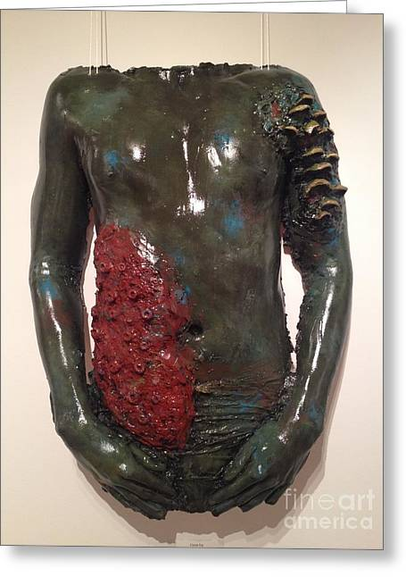 Human Figure Sculptures Sculptures Greeting Cards - Cover Up Greeting Card by Catherine Maroney