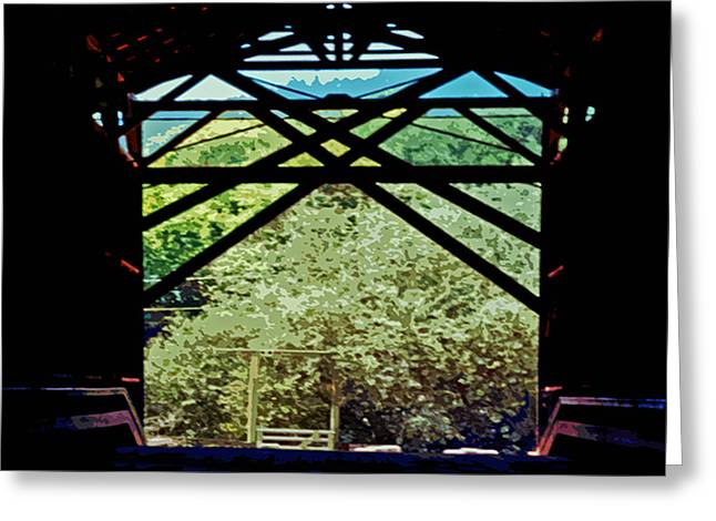 Covered Bridge 3 Greeting Card by Charlette Miller