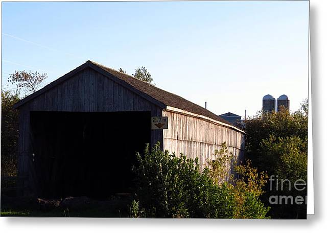 Covered Bridge Greeting Cards - Covered Bridge 4 Greeting Card by J L Kempster