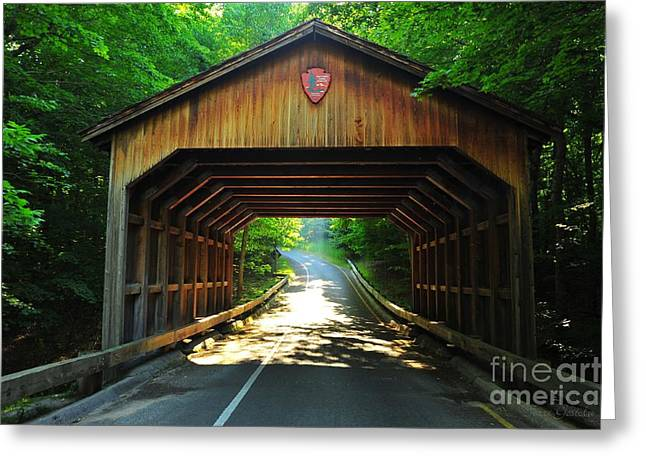 Covered Bridge At Sleeping Bear Dunes National Lakeshore Greeting Card by Terri Gostola