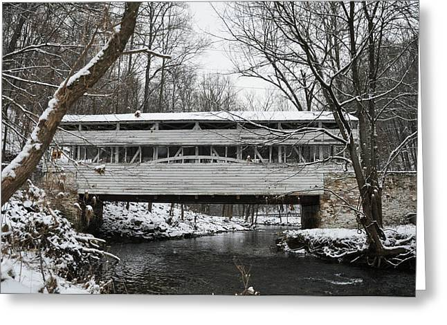 Covered Bridge Greeting Cards - Covered Bridge at Valley Forge Greeting Card by Bill Cannon