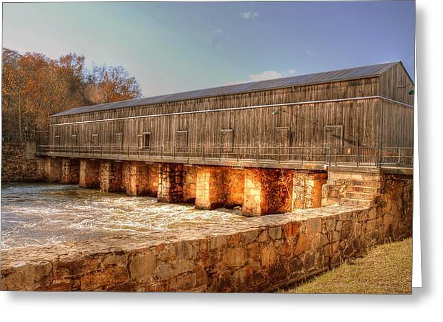 Wooden Stairs Greeting Cards - Covered bridge in Augusta Greeting Card by Linda Covino