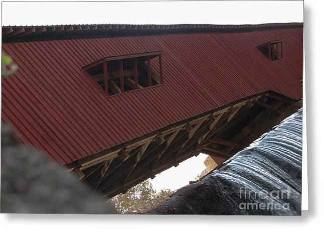 Bridgeton Covered Bridge Greeting Cards - Covered Bridge Greeting Card by Josh Spidel