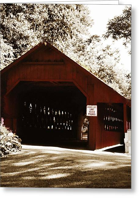 Covered Bridge Greeting Cards - Covered Bridge Greeting Card by Marilyn Hunt