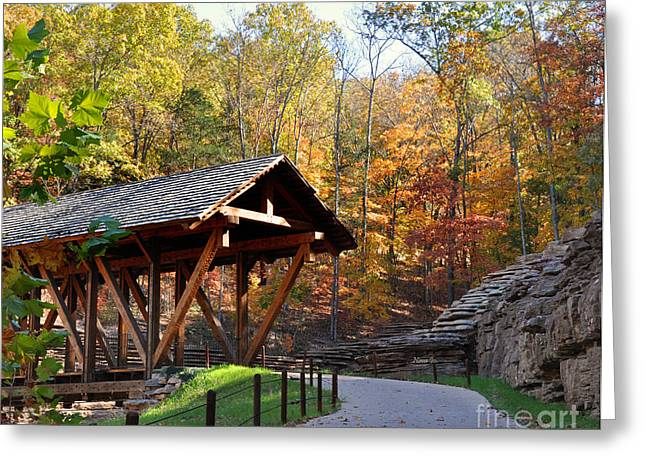 Bedroom Art Greeting Cards - Missouri Covered Bridge Greeting Card by Nava  Thompson