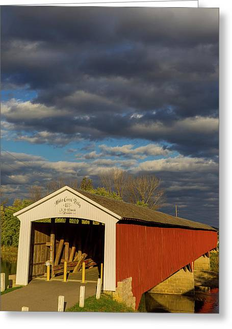 Covered Bridge Over The East Fork Greeting Card by Chuck Haney